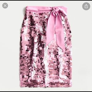 J crew pink bubble sequin skirt size 12 NWT